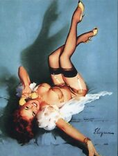 POST CARD OF A VINTAGE PIN UP GIRL BY GIL ELVGREN GIRL ON THE PHONE