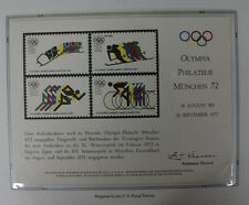 souvenir card PS 6 Munchen 1972 four 1972 Olympic stamps