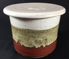 Studio Pottery Hand Made Cow Cattle Dessert Terrain Round French Butter Bell Jar