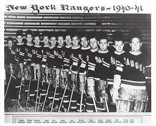 NEW YORK RANGERS 1940-41 TEAM NY 8X10 PHOTO HOCKEY NHL PICTURE