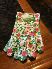 Ladies Canvas Gardening Gloves One Size Green