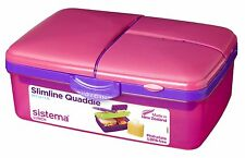 Sistema Pink Quaddie 4 Compartment Lunch Box 1.5 Ltr BPA Free