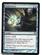 THINK TWICE FOIL ! Innistrad MTG - NM en ingles - Pensar Dos Veces Magic