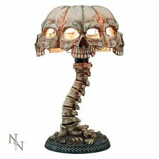 Atrocity Table Lamp 37.5cm High Gothic Skull Desk Light Nemesis Now