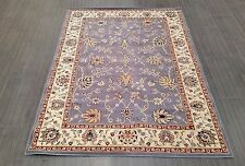 CHINESE,TRADITIONAL,FLORAL,90% WOOL RUG,224 x 160CM,BLUE,IVORY,BURGUNDY,BEIGE