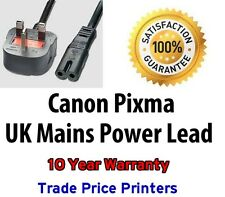 GENUINE UK Power Lead Cable Canon Pixma MP500 MP510 MP520 MP530 MP540 MP550