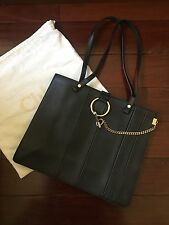 Authentic Chloe Black Faye 3S1189-H1Z Leather Tote Bag NEW