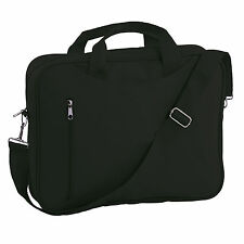 BN Laptop Macbook Black Carry Bag Sleeve Two Handles Shoulder Strap and Zip 15""