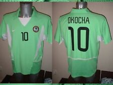 Nigeria Bolton 10 Okocha Shirt Jersey Soccer NIKE Adult Large Vintage Home Top
