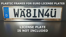 Frame Holder For Euro License Plate VW BMW Saab Mercedes Benz Metallized chrom