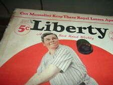 1932 Babe Ruth Cover Liberty Magazine Unique Face of the Babe Baseball