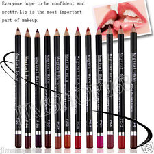 12pcs Cosmetic Waterproof Lip Liner Pencil Long Lasting Lipliner Makeup Tool New