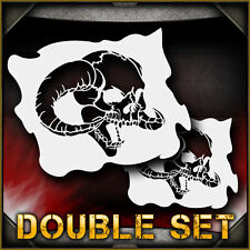 Skull 17b Double Set Airbrush Stencil Template Airsick