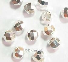 20 Sterling Silver Disco Laser Round Mirror Spacer Bead Ball 2mm Dreambell
