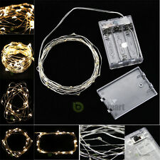 10ft 3M Warm White Battery Powered Copper Wire 30 Led String Fairy Light Party