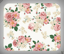 Pattern // Floral, Flowers, Pink, Green, Vintage, Pretty // Mouse Pad [NEW!] 1