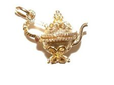 9ct Solid Gold Opening Filligree Teapot Charm Charm Charms Pendant