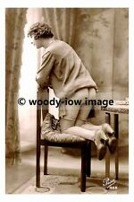 rp17547 - Semi Nude young kneeling on a chair- photo 6x4