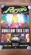 POISON 'Swallow This Live ' Shop Display POSTER 20x30 inches