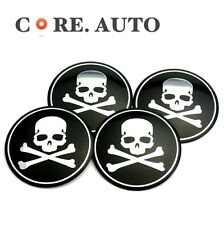 4*56mm Skull Badge for VW Bora Golf Car Wheel Centre Emblem Sticker