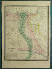 1872 JAMES WYLD MAP ~ EGYPT ~ NILE DELTA CAIRO BAHARI VOSTANI ~ HAND COLOURED