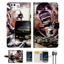 Iron Maiden Wallet TPU Case Cover For Huawei P9-- A014