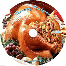 Turkey Roast Cook Smoke Turducken Grill Fry Stuff Trimmings Recipes Cookbooks CD
