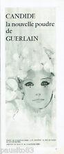 PUBLICITE ADVERTISING 115  1966   la nouvelle poudre Candide de Guerlain