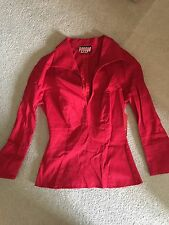 Pinup Girl PUG Lauren Top Women's Shirt/Blouse Red Size XS Vintage Style