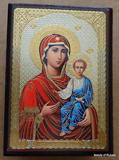 Russian   DECOPAGE wooden  ICON BOX VIRGIN MARY AND A CHILD