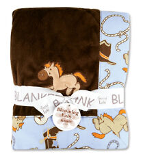 "Cowboy Baby Receiving Blanket 30"" x 40"" By Trend Lab 102177 New"