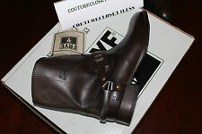 FRYE LINDSAY SPUR SHORT DARK BROWN SMOOTH FULL GRAIN LEATHER #8.5us $339