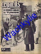 Regards n°337 du 01/02/1952 Événements de Tunisie Jacqueline du Bief patinage