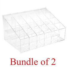 SOL Bundle of 2. Acrylic Lipstick Organizers for 24 lipsticks / Clear Acrylic