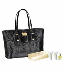 VERSACE BLACK WOMEN'S LARGE BAG and versace eros pour femme travel gift set