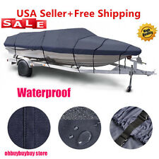 17 -19ft Trailerable Boat Cover Waterproof Heavy Duty Fishing Ski Bass V-hull OH