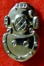 RAN -  Diver's Helmet Tie Pin - Silver
