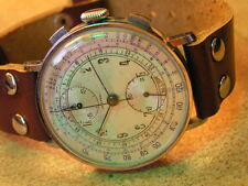 Vintage Oversize ORIENTAL (OMEGA Trade Mark) Wrist Chronograph Orig. Cond.1930's