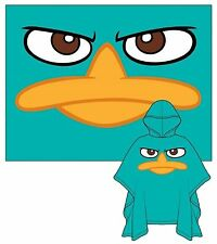 Adult Unisex Rain Poncho Phineas & Ferb Perry Only Face One Size Fits All
