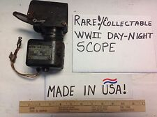 RARE! WWII NIGHT/DAY SCOPE 12V AIRCRAFT TO GROUND SIGHTING INSTRUMENT COLLECTIBL