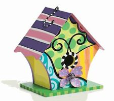 Decorative Birdhouse with Green Base The Lisa Frost Collection SPRING Indoor