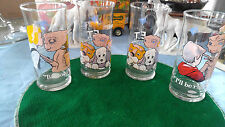 E.T. PIZZA HUT LIMITED EDITION COLLECTOR SERIES 1982 UNIVERSAL GLASSES (4)