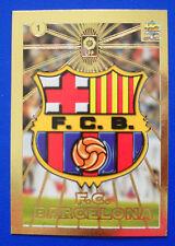 CARD FUTBOL LFP - LAS FICHAS DE LA LIGA 98-99 - N. 1 - ESCUDOS - BARCELONA