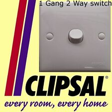 Clipsal 1 gang 2 way switch white plastic staircase lighting accessories NEW