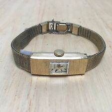 Vintage Seiko Lady 17J Gold Tone Mesh Band Hand Winding Watch Hour~Run~Keep Time