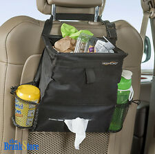 Car Litter Trash Bag Garbage Can Leak Proof Bin Headrest  Hang Tissue Dispenser