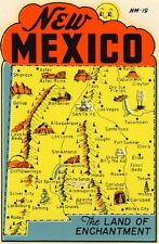 Vintage Travel Decal Replica Window Cling - New Mexico