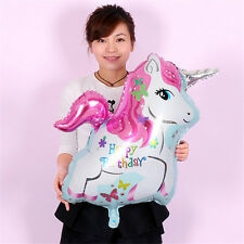 Happy Birthday Inflatable Foil Helium Balloons Horse Unicorn Toys Party Decor