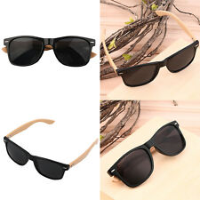 Bamboo Sunglasses Wooden Wood Mens Womens Retro Vintage Summer Glasses AL