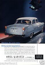 Opel Kapitän Reklame von 1956 Ampel Heck Werbung ad Kapitaen